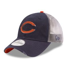 Chicago Bears New Era Pom Fire Cuffed Knit Hat - Orange   Chicago ...