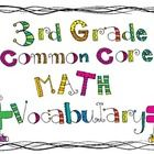 Free math vocabulary cards