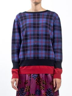 MARC BY MARC JACOBS - Plaid #cardigan with buttons on the back and double colored sleeves - LIDIASHOPPING.IT - SHOP ONLINE - WORLDWIDE SHIPPING  #tartan #marcbymarcjacobs #marcjacobs #lidiashopping #shoponline