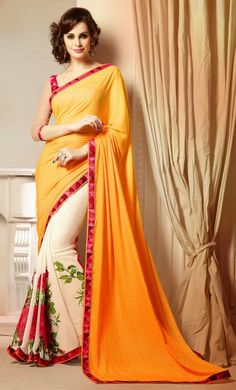 Latest Designer party wear #sarees – Get a charming look in this appealing Rust Lace Work Designer Saree. Grab this beautiful creation before stock ends. Buy Now –http://www.ethnicstation.com/sarees/party-wear-sarees