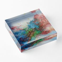 'Suddenly' Acrylic Block by Faye Anastasopoulou Decorative Throw Pillows, Decorative Items, Framed Prints, Canvas Prints, Art Prints, Home Office Accessories, Theme Pictures, Colourful Living Room, Fancy Houses