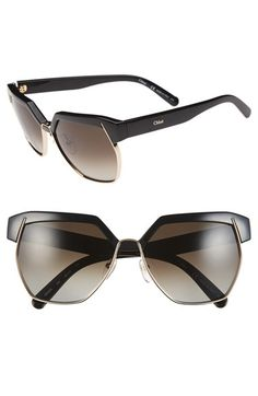 ae555755a22 Chloé  Dafne   60mm Gradient Sunglasses