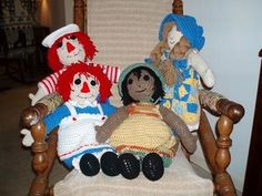 Raggedy Ann & Andy http://yarneverywhere.blogspot.com/2006/06/crochet-chiffon-doll-this-is-basis-for.html