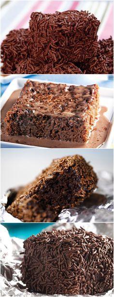 Aprenda a fazer esse bolo gelado de chocolate! Misture os ingredientes em pó…logo após os demais ingredientes…não deixe que os ovos fiquem mal misturados,pq ao jogar água fervendo. #receita#bolo#torta#doce#sobremesa#aniversario#pudim#mousse#pave#Cheesecake#chocolate#confeitaria
