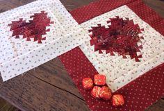 Little heart quilt from Lisa Bongean