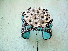Cuff Bracelet  Picnic by lesliejanson on Etsy, $50.00