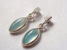 Drips of Blue Turquoise 925 Sterling Silver Dangle Earrings Corona Sun Jewelry