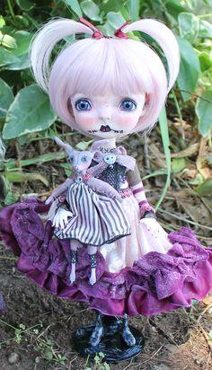 Miss Hush and her bunny (monster rag doll)