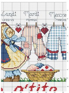 Schematic cross stitch Dresses 2