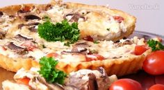 Syrovo-šampiňónový+koláč+(fotorecept) Russian Recipes, Vegetable Recipes, Baked Potato, Mashed Potatoes, Pizza, Baking, Vegetables, Ethnic Recipes, Food