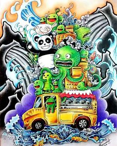 Um Doodle Adaptado Para O Estilo Tattoo Oriental Doodleinvasion Zifflindoodle Zifflinscoloringbook Zifflin Kerbyrosanes