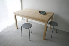 248 01_Resize standard furniture Straight table : W1,300 D800 H720 Solid ash oil finish