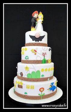 Mario Bros Wedding Cake