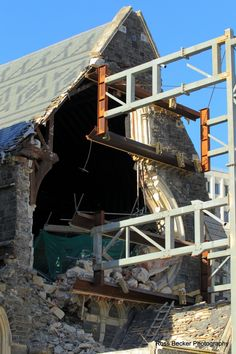 The rose window of Christchurch Cathedral collapsed on June 13.