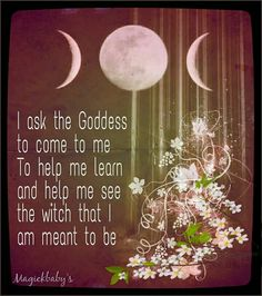 I asked the Goddess to come to me to help me learn and help me see the witch that I am meant to be. She came and I am slowly learning that I am meant to be a simple Pagan Witch, and proud of it, too.