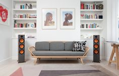 With a choice of bookshelf or floorstanding speakers, and a powerful centre and subwoofer, the Monitor Series delivers detailed audio resolution in both two-channel and multi-channel configurations.  #floorstandingspeakers #surroundsound #moderninterior #simpleinterior #whiteshelves #sofa #livingroominspo #livingroomideas Simple Interior, Modern Interior, Home Cinema Speakers, Home Cinema Systems, Floor Standing Speakers, Surround Sound Systems, White Shelves, Home Cinemas, Bookshelves
