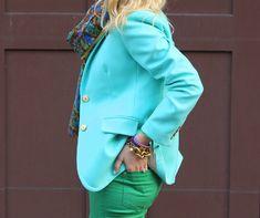 Neon blue blazer