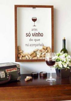 quadro decorativo porta rolhas antes so vinho do que mal acompanhado