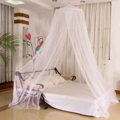 OZ Net Canopy Bed Curtain Dome Mosquito Insect Stopping Double Single Queen & Canopy-