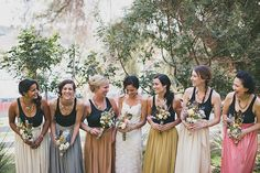 10 Bridesmaid Styles Perfect for a Winter Wedding via Brit + Co.