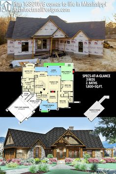 Our client is building Craftsman House Plan 16801WG in reverse orientation in Mississippi. Ready when you are. Where do YOU want to build? 3BR | 2BA | 1,800+SQ.FT. #16801WG #adhouseplans #architecturaldesigns #houseplan #architecture #newhome  #newconstruction #newhouse #homedesign #dreamhome #dreamhouse #homeplan  #architecture #architect #craftsmanhouse #craftsmanplan #craftsmanhome