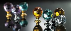 Door handles and knobs with Swarovski: Crystal collections by Linea Calì