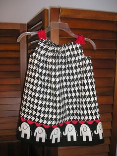 Alabama Houndstooth dress....I need a little baby to buy this for...anybody having a baby girl?? LOL!