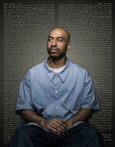 """Photographer Trent Bell asked 12 convicts in the Maine prison system to handwrite sincere letters to their younger selves. The series is called """"Reflect"""". - Album on Imgur"""