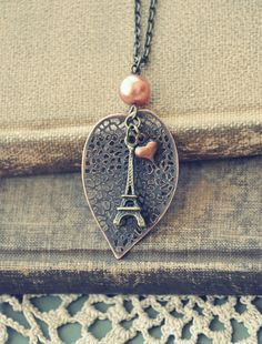 autumn in Paris necklace by bellehibou on Etsy