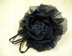 Navy Blue Millinery Rose with Silk Tubing Dark Midnight for Corsage, Gowns, Hats, Costumes