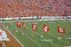Red River Rivalry.  Look at that sea of burnt orange!!!!