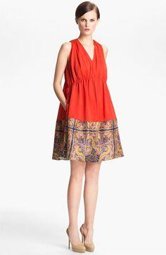 Carven Two Tone Print Dress