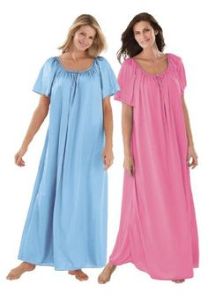 Only Necessities Plus Size 2-Pack Nightgown