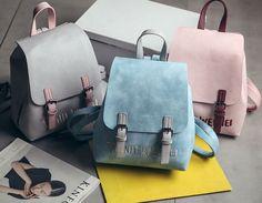 Women's PU Leather Satchel Shoulder Backpack School Rucksack Bags Travel Fashion…