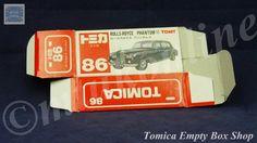TOMICA 086B ROLLS-ROYCE PHANTOM | 1/78 | ORIGINAL BOX ONLY | 1988 -1993 JAPAN (A