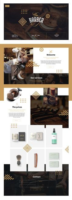 BARBER SHOP - Template PSD Download;) This is a project fictive, But i give the template with the Psd of the webdesign and the mobile version ;D