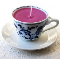 Another Idea for homeade soy candles- recycled Teacups. Maybe package in brown boxes?