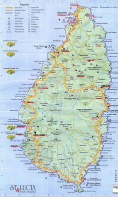 map of #simplybeautiful Saint Lucia #SeeStLucia #SaintLucia