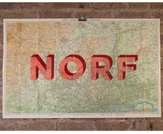 For all those Londoners out there. Where does your allegiance lie? #Norf or #Sarf. One off screen prints by #DaveBuonaguidi. Available here: http://www.nellyduff.com/gallery/dave-buonaguidi/norf