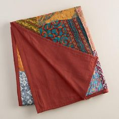 One of my favorite discoveries at WorldMarket.com: Kantha Sari Patchwork Throw