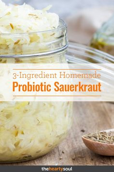 The Homemade Sauerkraut Recipe That Fights Fat And Inflammation The Homemade Sauerkraut Recipe That Fights Fat And Inflammation,Natural Clean Living & Recipes The Homemade Sauerkraut Recipe That Fights Fat And Inflammation. Homemade Sauerkraut, Sauerkraut Recipes, Fermentation Recipes, Canning Recipes, Kitchen Recipes, Probiotic Foods, Fermented Foods, Real Food Recipes, Healthy Recipes