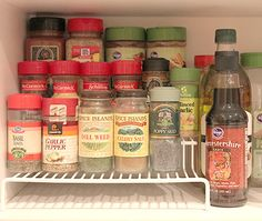 spice cupboard organization