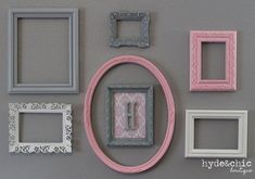 Baby Girl Nursery / Monogram Frame / by hydeandchicboutique, $79.99
