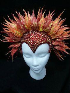 Flaming Phoenix Headress via Etsy
