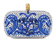 cobalt blue box clutch by Emilio Pucci