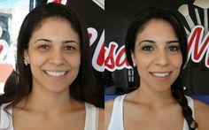 Antes e depois Auto Maquiagem