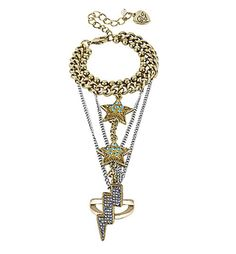 Chain Star Bracelet Ring Gold by Betsey Johnson #jewelry #accessory #fashion
