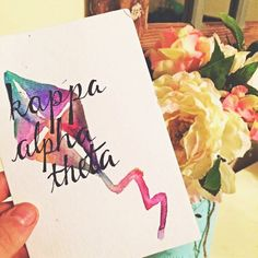 This original Kappa Alpha Theta watercolor printable wall art design is the perfect addition to any home or office!  100% of every penny you
