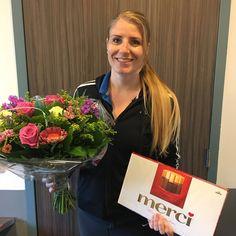 Vandaag is Laura Rendering 5 jaar in dienst bij Medi-SportLagune. Gefeliciteerd namens ons allemaal. #fysiotherapie #Heerhugowaard