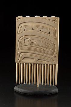 """Transitions"" Comb by Corey W. Moraes, Tsimshian artist (W141201)"